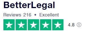 BetterLegal Trust Pilot Rating